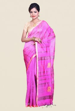 Bengal Handloom Pink Cotton Silk Saree