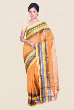 Bengal Handloom Yellow Cotton Silk Saree