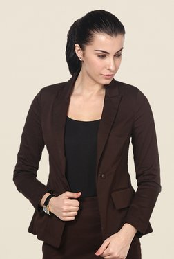 Kaaryah Brown Solid Jacket