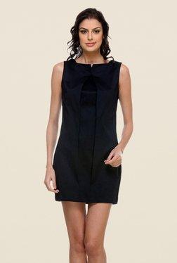 Kaaryah Navy Solid Round Neck Dress