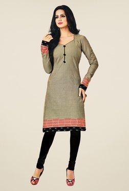 Salwar Studio Grey Cotton Self Printed Unstitched Kurti