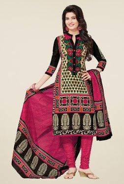 Salwar Studio Multicolor Cotton Floral Print Dress Material