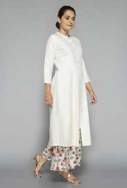 Zuba by Westside Off White Solid Kurta