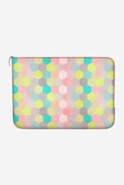 "DailyObjects Pastel Hexagon Macbook Air 11"" Zippered Sleeve"