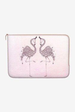 "DailyObjects Poetic Flamingo Macbook 12"" Zippered Sleeve"