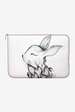 "DailyObjects Poetic Rabbit Macbook 12"" Zippered Sleeve"