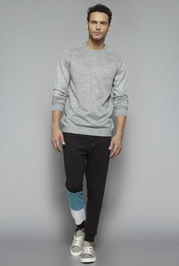 Nuon by Westside Grey Textured Sweatshirt