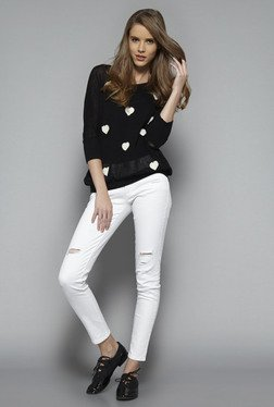Nuon by Westside Black Teddy Sweater