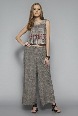 Bombay Paisley by Westside Brown Printed Crop Top
