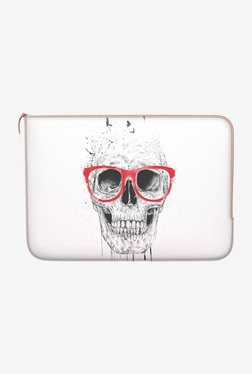 "DailyObjects Skull Red Glass Macbook Pro 15"" Zippered Sleeve"