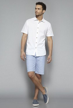 Westsport By Westside White Striped Shirt