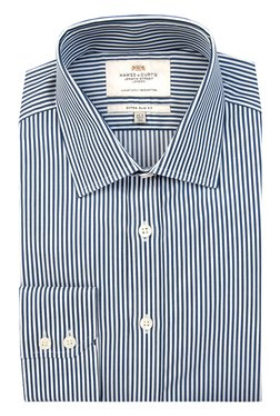 Hawes & Curtis Navy Striped Shirt