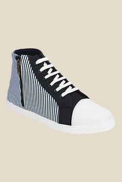 Kielz White & Black Ankle High Sneakers