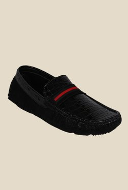 Kielz Black & Red Loafers