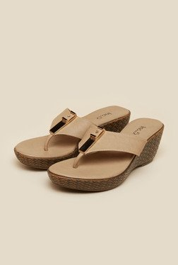 Inc.5 Beige Wedge Heeled Sandals