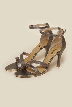 30695a03ba8 Inc.5 Gun Metal Ankle Strap Sandals