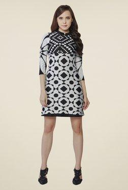 AND Grey & Black Printed Dress