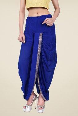 Juniper Blue Solid Dhoti Pants