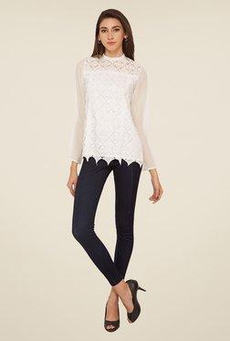 Soie White Lace Top