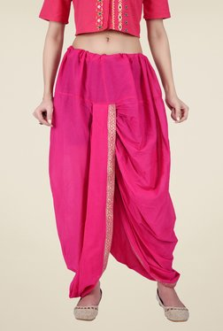 Juniper Pink Solid Dhoti Pants