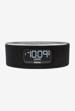 IHome IBT31 Bluetooth Speaker With FM Clock Radio (Black)