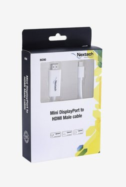 Nextech NC90 Mini Display Port To HDMI Male Cable (White)