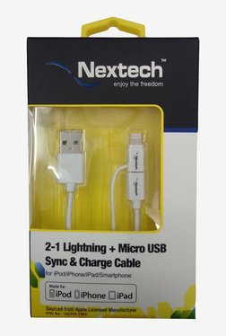 Nextech NC9K 2-1 Micro USB Sync And Charge Cable (White)