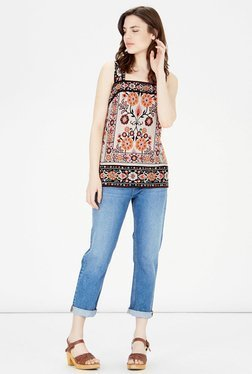 Warehouse Multicolor Floral Printed Top