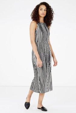 Warehouse Black & White Striped Dress