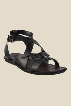 J. Fontini By Mochi Black Ankle Strap Sandals