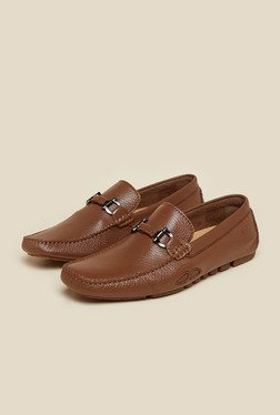 Da Vinchi By Metro Tan Leather Slip-On Loafers