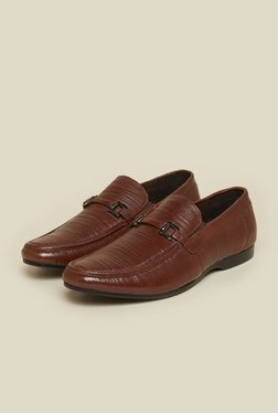 Metro Brown Leather Moccasin Slip-On Shoes