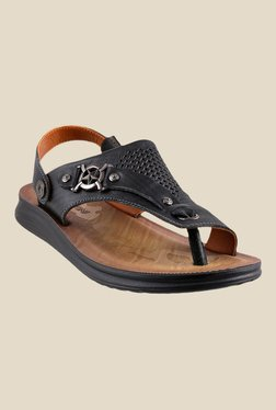 J. Fontini By Mochi Black Sling Back Sandals