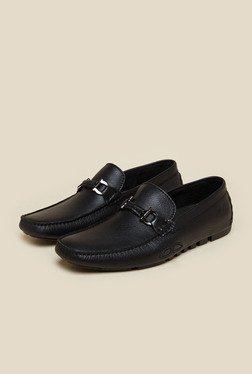 Da Vinchi By Metro Black Leather Slip-On Loafers
