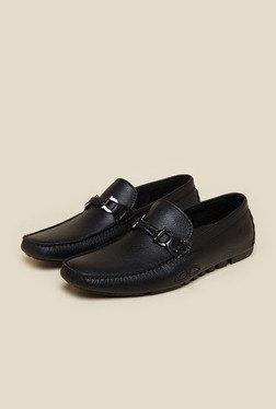 Da Vinchi By Metro Black Leather Slip-On Loafers