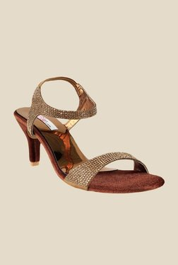 Haute Diva by Mochi Antic Gold Sling Back Stilettos