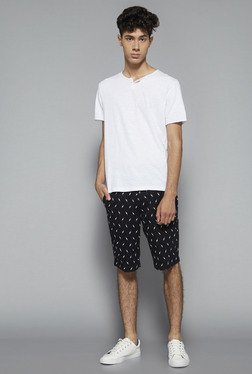 Nuon by Westside Black Slim Fit Shorts