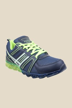 Pede milan Steemo Navy Blue & Green Training Shoes