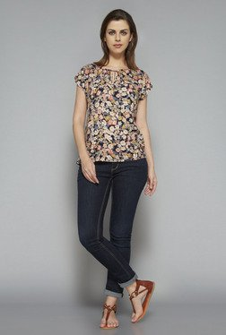 LOV by Westside Navy Perki Blouse