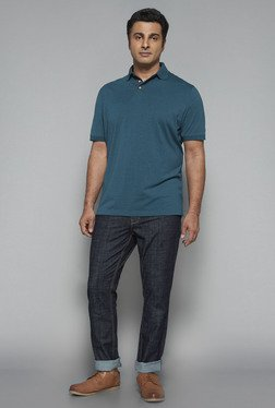 Oak & Keel by Westside Teal Polo T Shirt