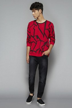 Nuon by Westside Red Slim Fit T Shirt