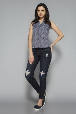 Nuon by Westside Navy Sarah Blouse