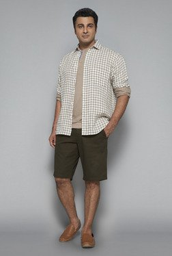 Oak & Keel by Westside Olive Solid Shorts