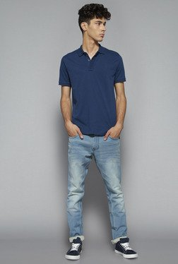 Nuon by Westside Indigo Slim Fit Polo T Shirt