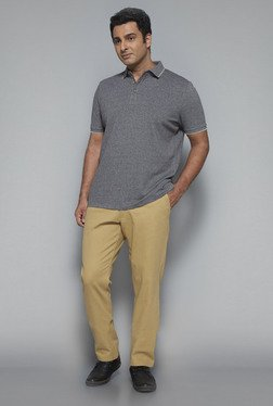 Oak & Keel by Westside Beige Solid Chinos