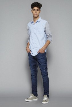 Nuon by Westside Blue Slim Fit Shirt