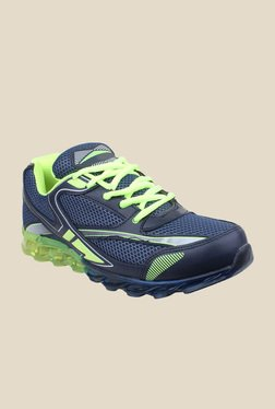 Pede milan Steemo Navy & Green Training Shoes