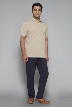 Oak & Keel by Westside Beige Polo T Shirt