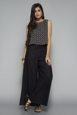 Bombay Paisley by Westside Black Printed Crop Top