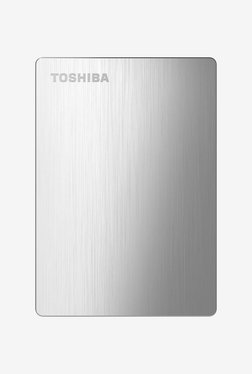 Toshiba Canvio Slim II 1 TB Hard Drive with Pouch (Silver)